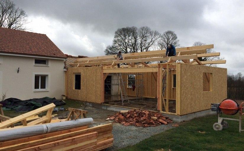 Extension maison ossature bois à Angoisse (24270)