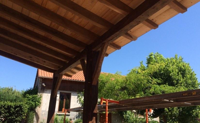 Appentis vieux bois à Anlhiac (24160)