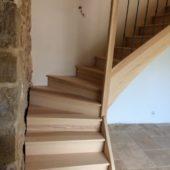 escalier 1/4 tournant frene